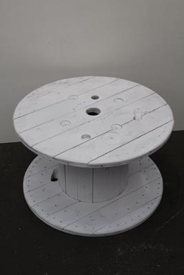 <h4>Cable Reel Wood Ø100cm White</h4>