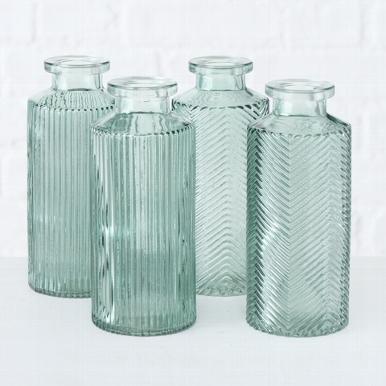 <h4>Vase Panja, 4 p., H 13,8 cm, Glass laquered, Sage green glass laquered sage green</h4>