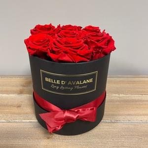 Box rd 15cm zwart-rood