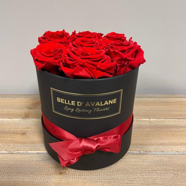 <h4>Box rd 15cm zwart-rood</h4>