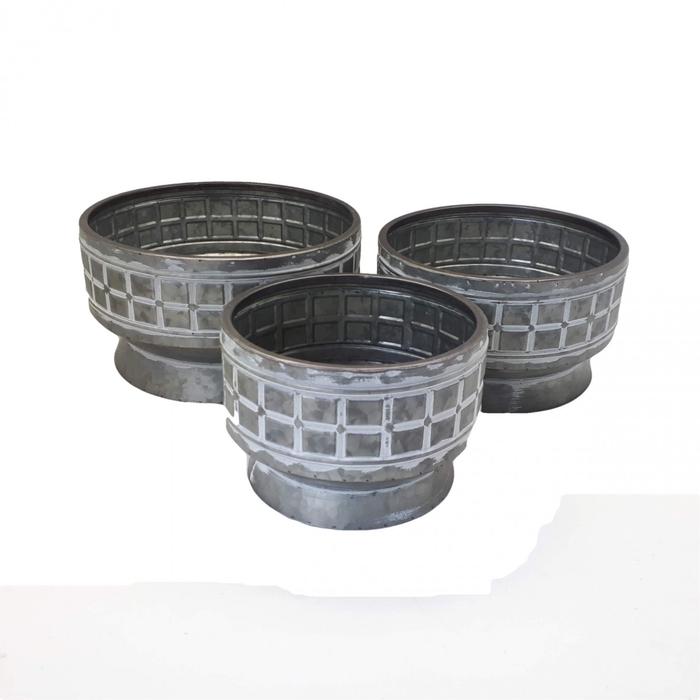<h4>Zinc Bowl Rene S/3 d28*15cm</h4>