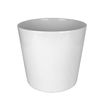 <h4>Pot Dallas Céramique Ø19xH18cm blanc brilliant</h4>