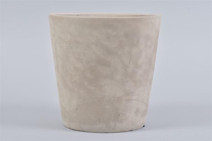 <h4>Beton Pot Rond Grijs 19x19cm</h4>