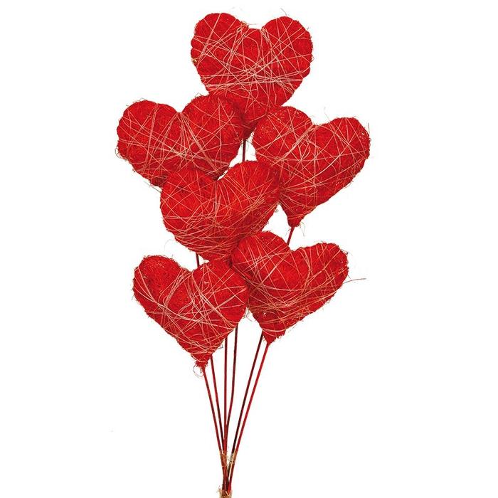 <h4>Sisal corazon 3D rojo (8 cm)</h4>