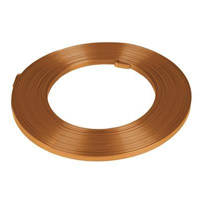 Aluminium wire flat - orange 5mmx10m