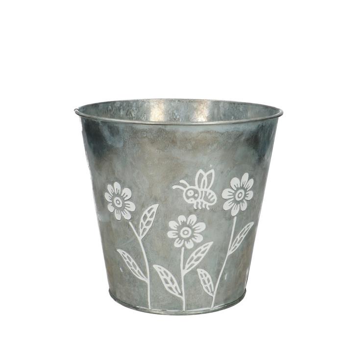 <h4>Zink Flower pot d16*15cm</h4>
