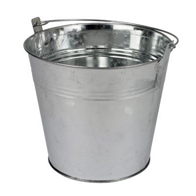 <h4>Bucket Sevilla zinc Ø15,5xH14,8cm -ES14/15 natural</h4>