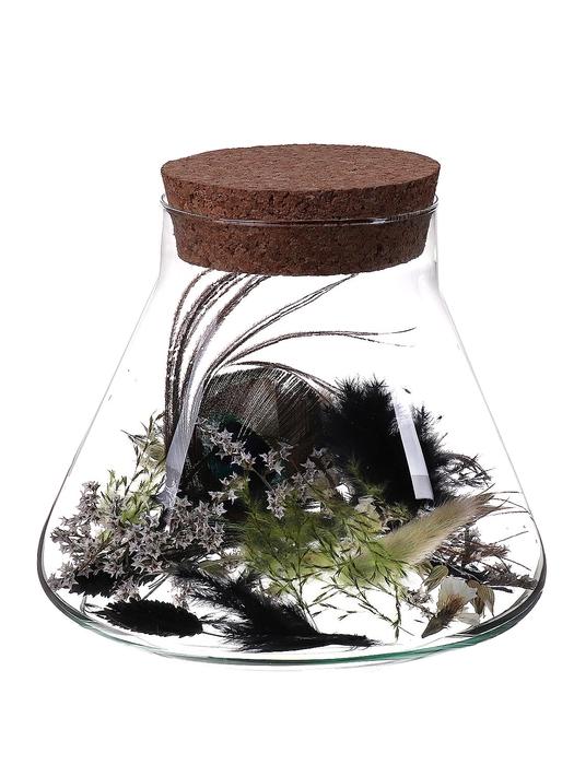 <h4>DF010047400 - Dried Flower Arrangements black</h4>