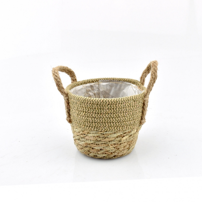<h4>Baskets Straw+hessian pot d14*12cm</h4>