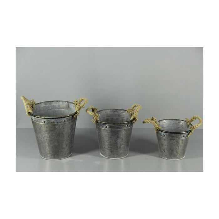 <h4>Planter Mtl Ant Bucket (s/3)</h4>