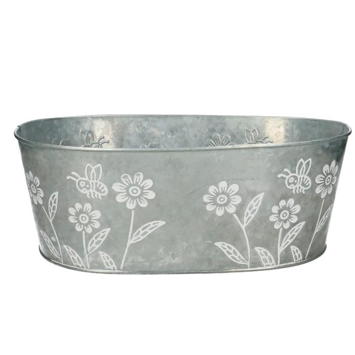 <h4>Zinc Flower tray oval d30*19*11cm</h4>