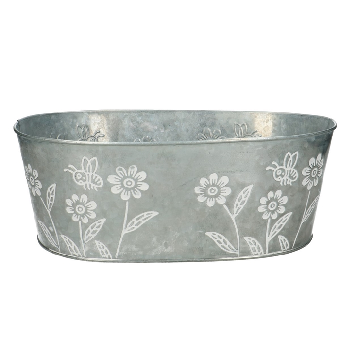 <h4>Zinc Flower tray oval d30*19*11cm</h4>