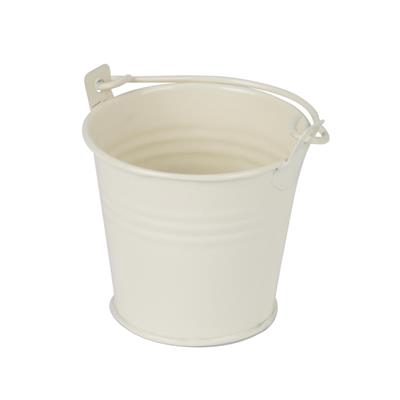 <h4>Bucket Sevilla zinc Ø6,3xH5,7cm - ES5 cream gloss</h4>