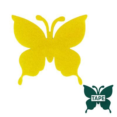 <h4>Butterfly felt 8x8,5cm + tape yellow</h4>