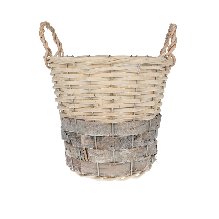 <h4>Baskets Jade pot+handle d20*18cm</h4>