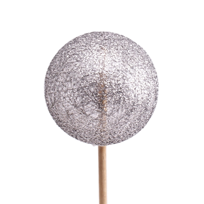 <h4>Christmas sticks 50cm Ball glitter d6cm</h4>