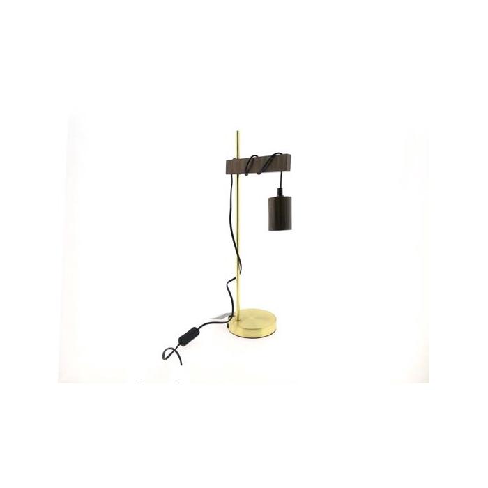 <h4>Lamp Table Mtl/wood H56cm Gold</h4>