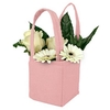 Bag Pastel felt 9,5x9xH11cm pink
