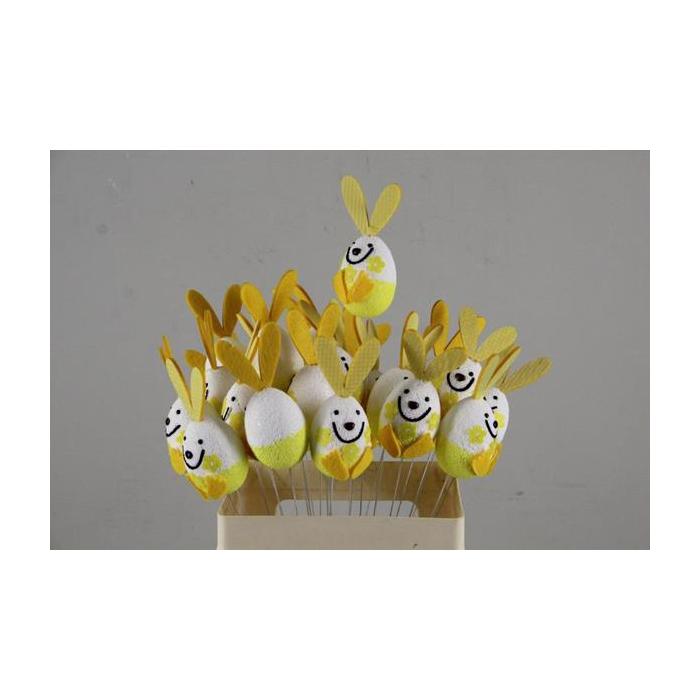 <h4>Stick Easter Rabbit Yellow</h4>