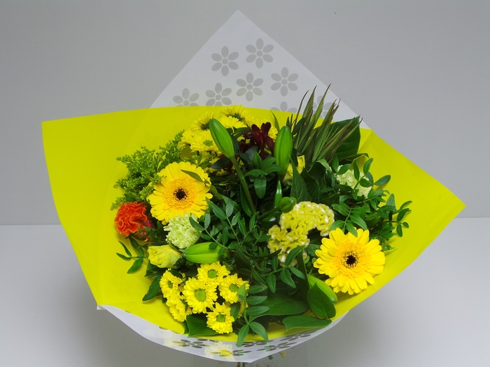 <h4>Bouquet Biedermeier Medium Yellow</h4>