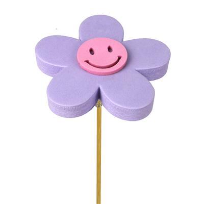 <h4>Pique fleur Happy foam 7+12cm bâton lilas</h4>