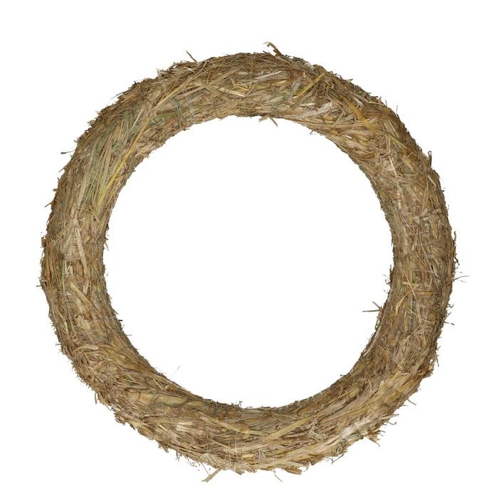 <h4>Wreath d40cm Straw</h4>