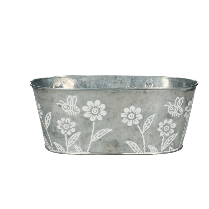 <h4>Zinc Flower tray oval d25*14*10cm</h4>
