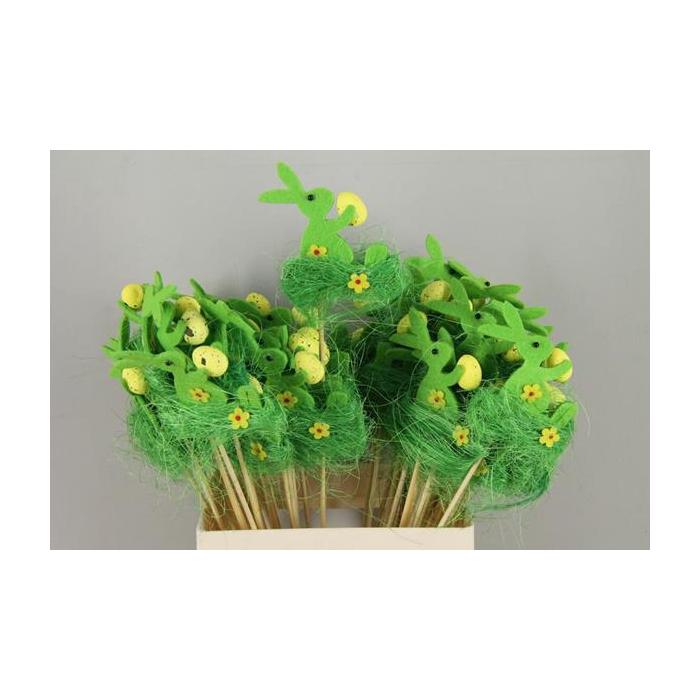 <h4>Stick Rabbit Felt-grass Green</h4>