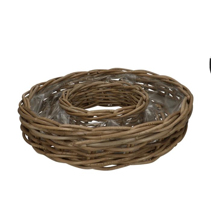 <h4>Baskets Rattan ring d40*9cm</h4>