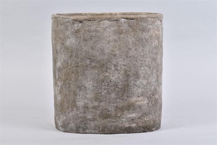 <h4>Iron Stone Grijs Ovaal 28x16x29cm</h4>