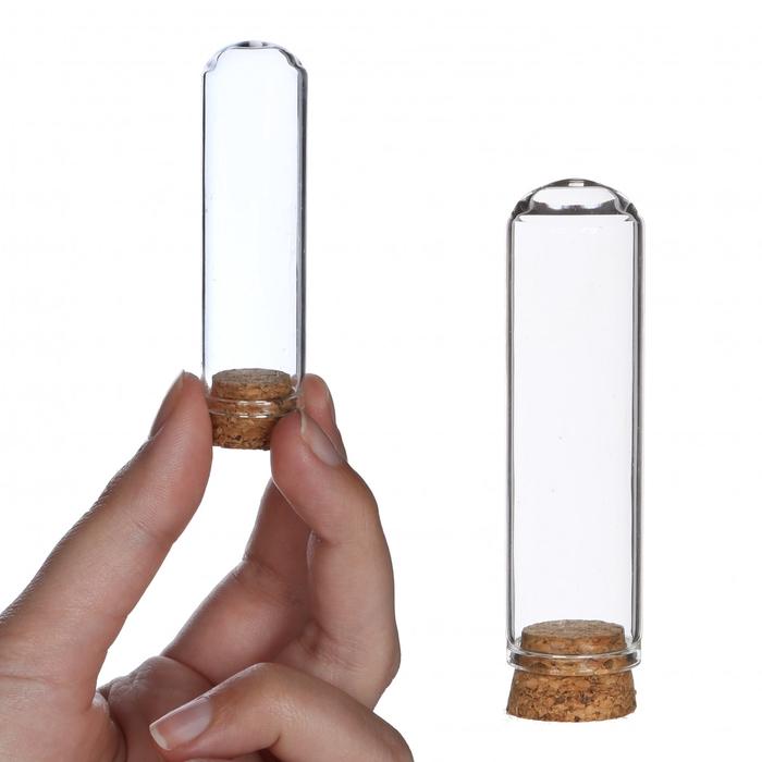 <h4>Glass Cloche+cork d02*7cm x12</h4>