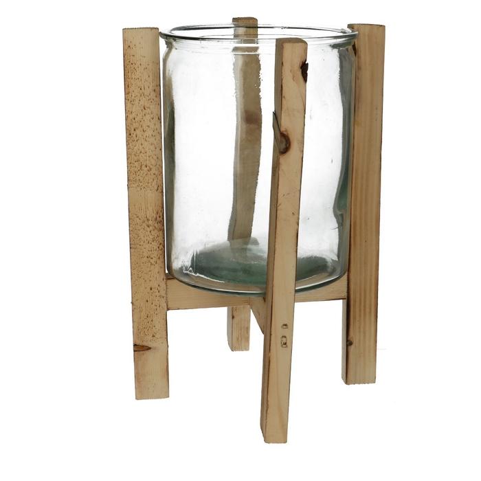 <h4>Glas Pot d14*17cm+frame</h4>
