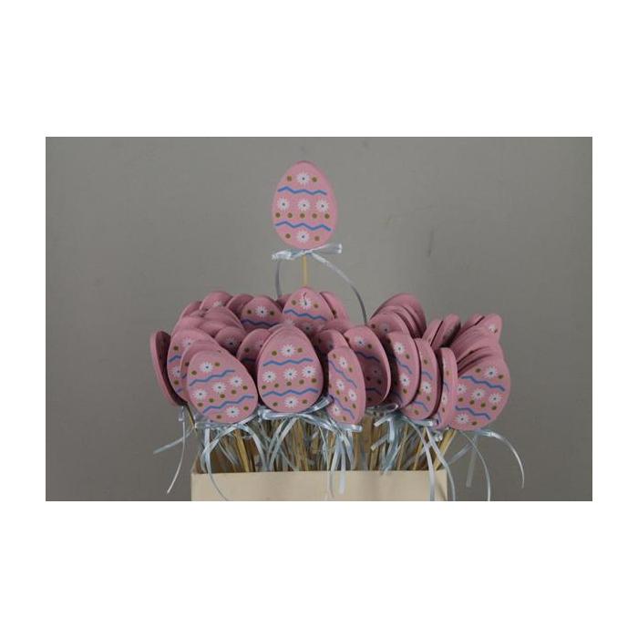 <h4>Stick Egg Wood+ribbon Pink</h4>