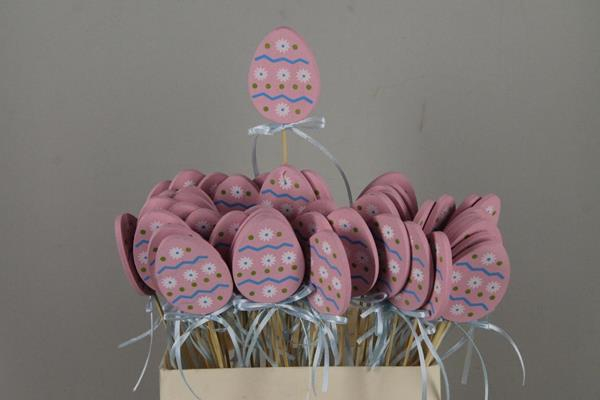 <h4>Stick Egg Wood+ribbon Pink</h4>