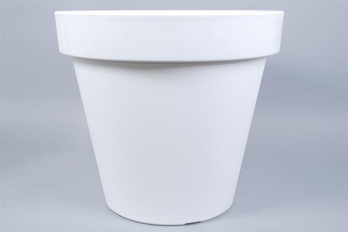 <h4>Kunststof Pot Wit Brede Rand 80cm</h4>