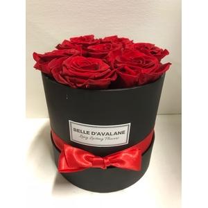 Flowerbox rd 15cm zwart/rood