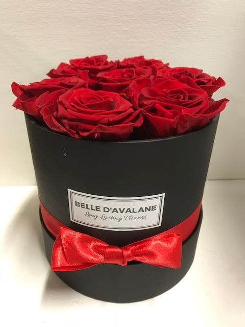 <h4>Flowerbox rd 15cm zwart/rood</h4>