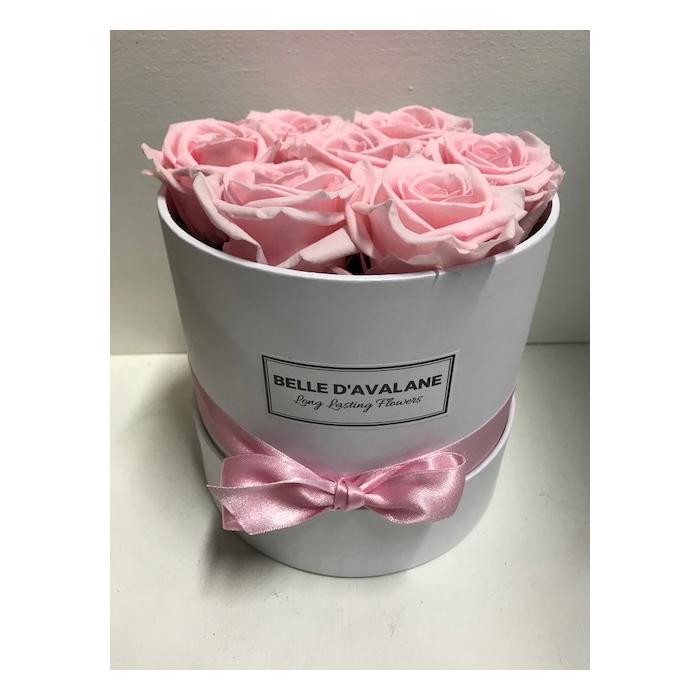 <h4>Flowerbox rd 15cm wit/roze</h4>