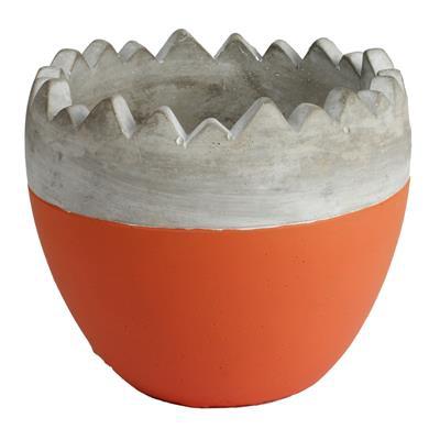 <h4>Pot Oeuf ciment ES12xH12cm orange</h4>