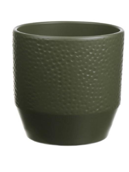 <h4>DF883628247 - Pot Pisa+dots d13.5xh13.2 green matt</h4>