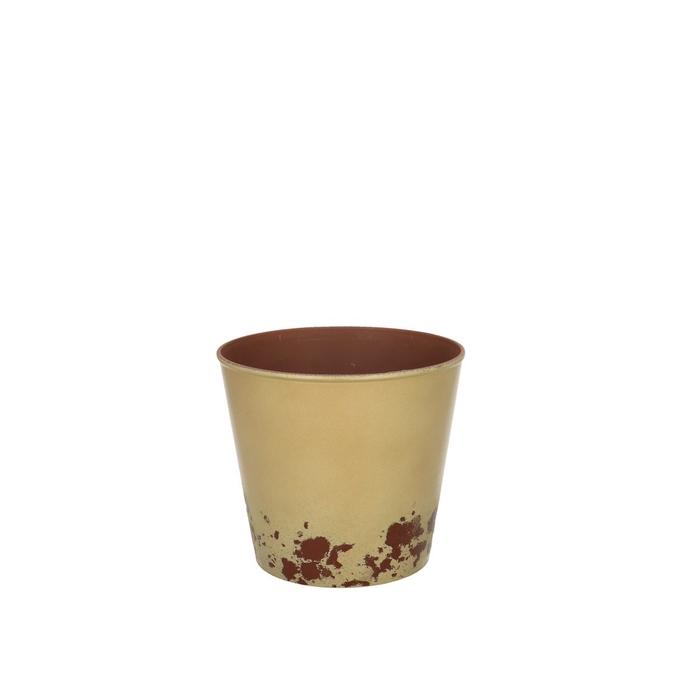 <h4>Plastic Melam rust pot d13*11.5cm</h4>