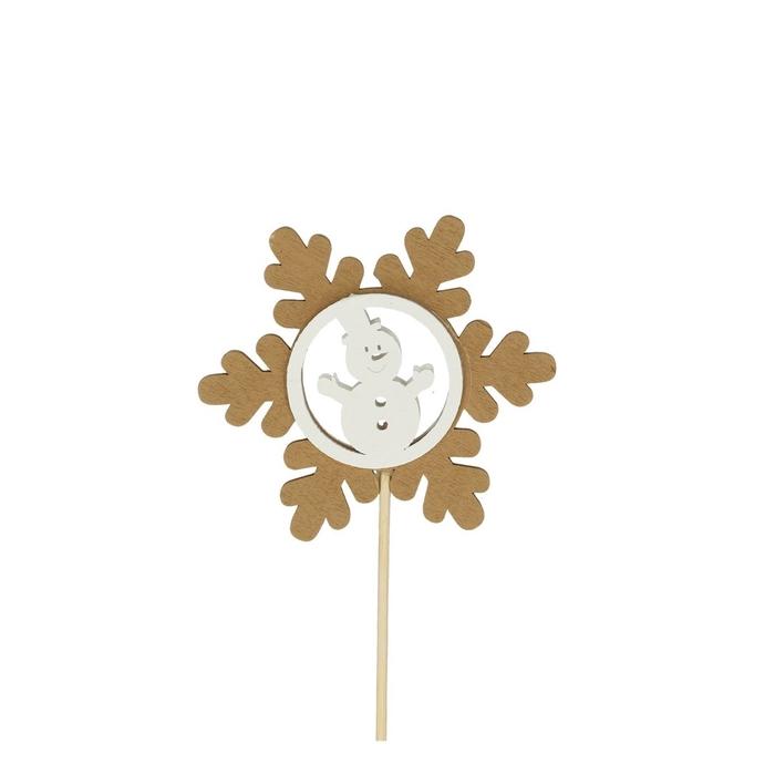 <h4>Christmas sticks 50cm Snowflake deco 7cm</h4>