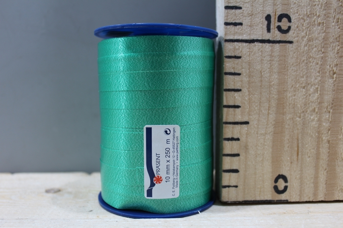 <h4>CURLY RIBBON 10MM 250M EMERALD 607</h4>