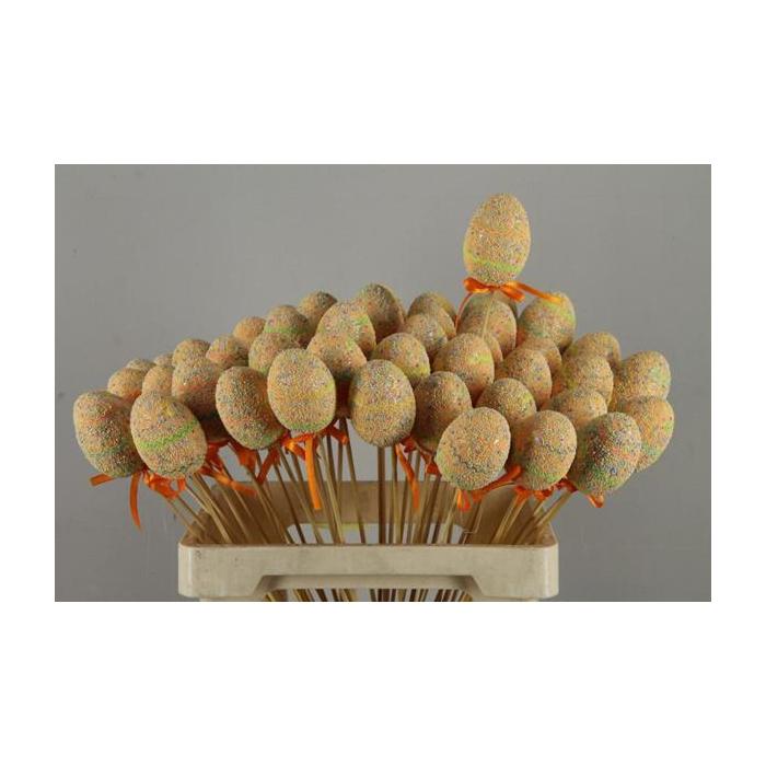 <h4>Stick Egg  Easter Party Orange</h4>