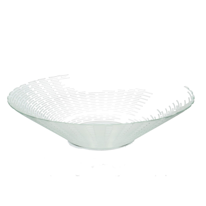 <h4>Glass Bowl ribbed d35*9m</h4>