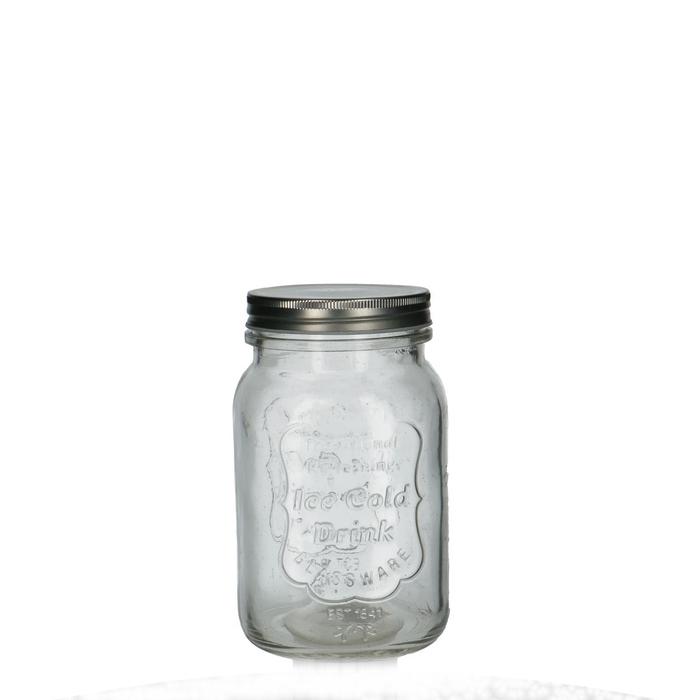 <h4>Glas Pot+deksel d10*16cm</h4>