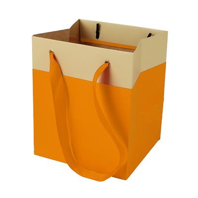 <h4>Bag Facile carton 12,5x11,5xH14,5cm orange</h4>