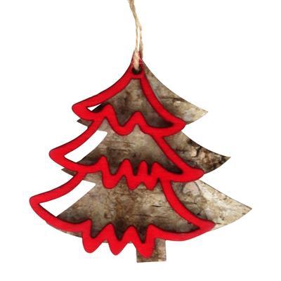 <h4>Hanger kerstboom berk 8x7,8+16cm touw</h4>