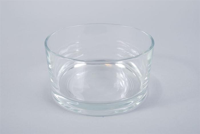 <h4>Glas Schaal Cilinder 15x8cm</h4>