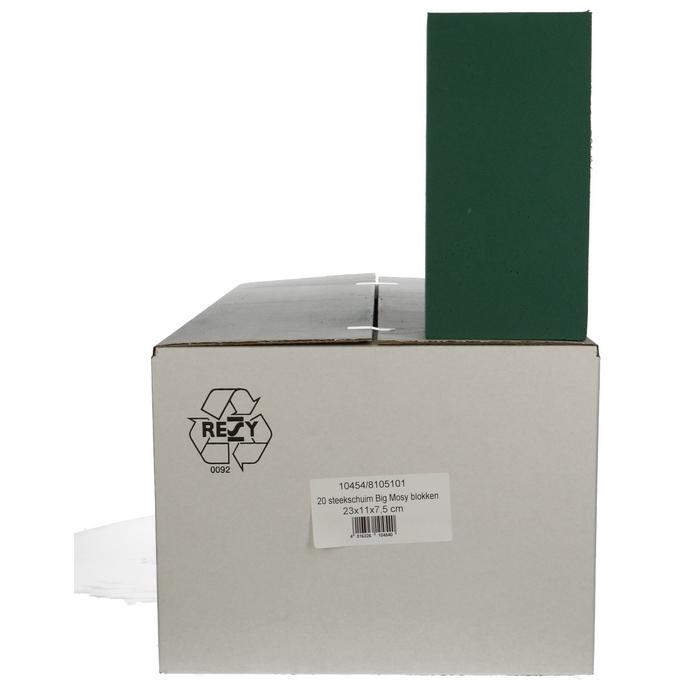 <h4>Steekschuim  Blok big 23*11*8cm x20</h4>
